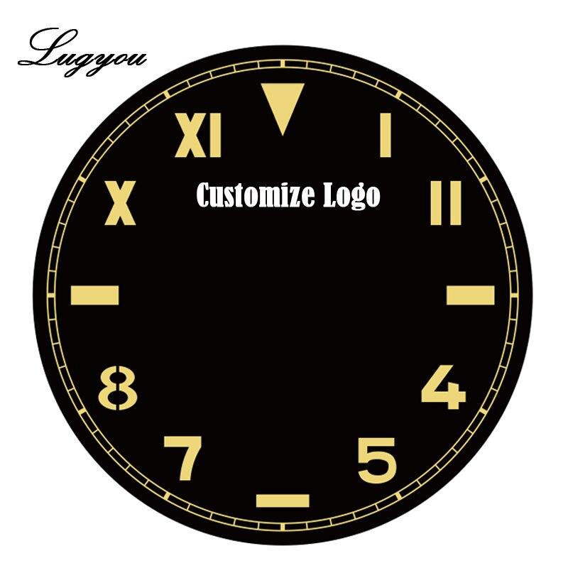 Lugyou San Martin personnaliser les frais de Service pour l'impression ou le Laser sur la Surface du cadran ou le dos du boîtier