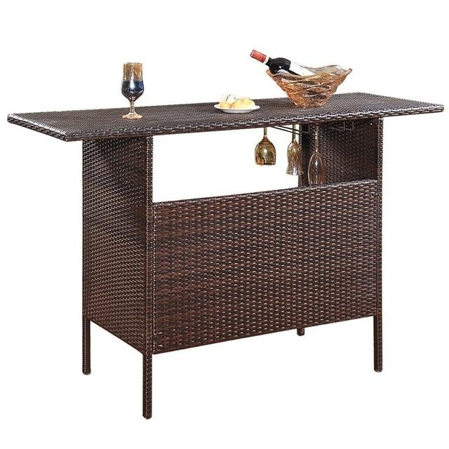 Outdoor Patio Rattan Bar Table 1