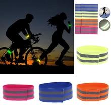 Ночные Светоотражающие безопасные повязки на руку для ночного бега, для спорта на открытом воздухе, для ночного бега, велоспорта, бега, нарукавника, светящийся нарукавник