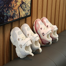 2019 spring and summer new ins boys breathable mesh sports shoes girls hollow running