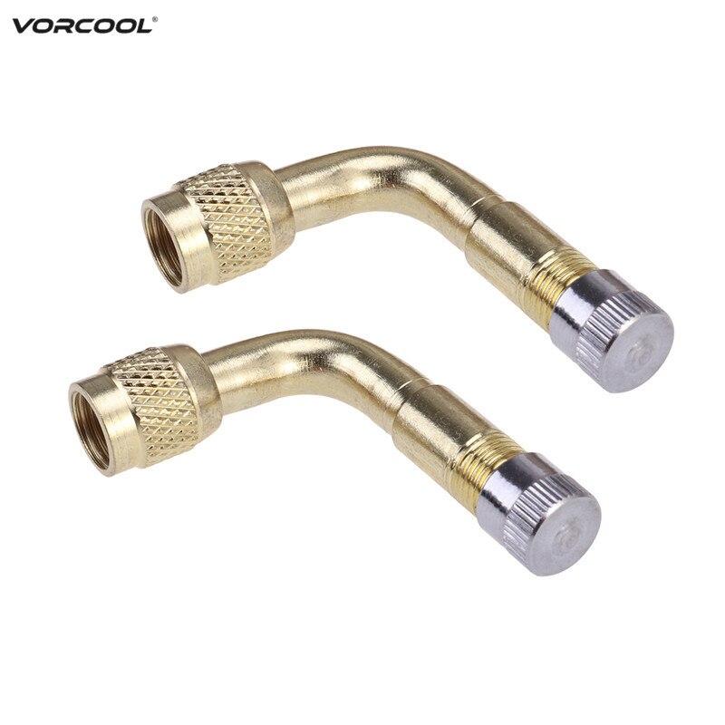 Vorcool pcs degree brass air tyre valve schrader