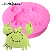 DANMIAONUO Food Grade Crab Chocolate Mold Silicone Decorations For Cakes Fondant Cutter Pastry Baking Form 3d Soap Molds A301071