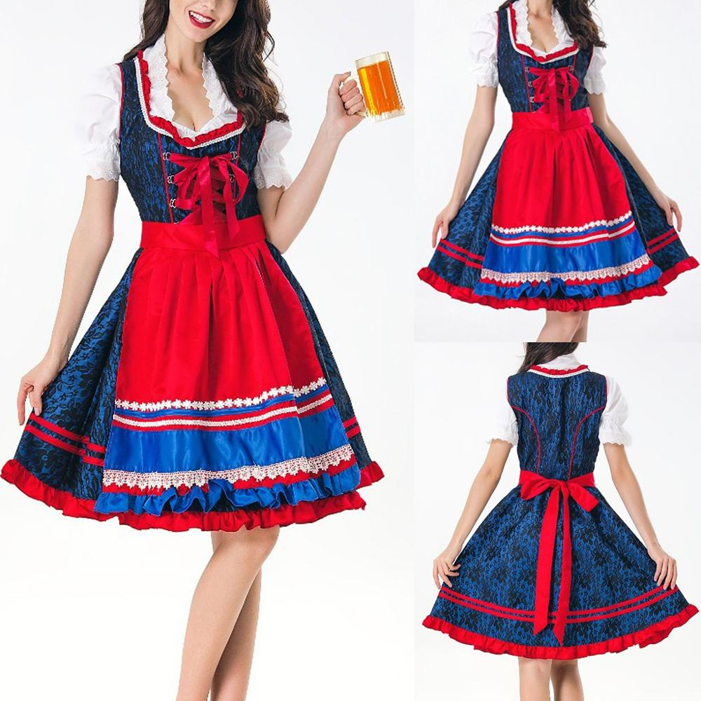 Women 3 Pieces Dress Bavarian Beer Festival Cosplay Costumes