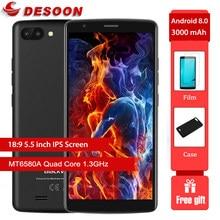 Blackview A20 Mobiele Telefoon 18:9 5.5 Inch Android Gaan Dual Camera 1Gb Ram 8Gb Rom MT6580M 5MP 3G Smartphone