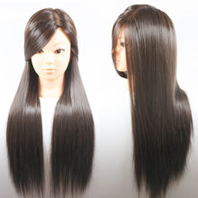 Hot Sale 26 inch Professional Hair Styling Training Head Hairdressers Head Mannequin For Hair Salon Practice Manikin Doll Heads(China)