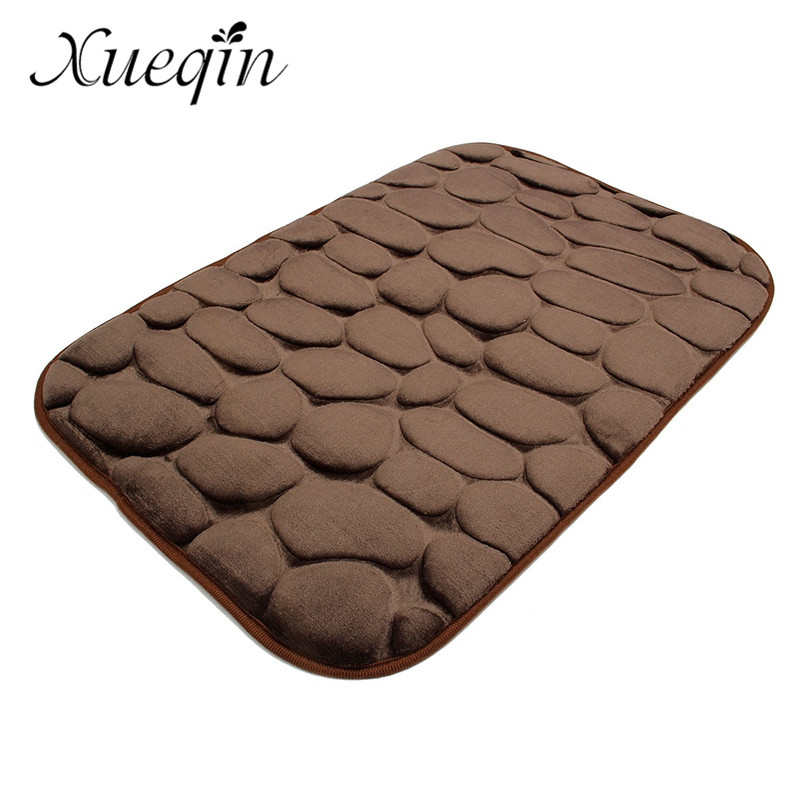 Cut Rate Xueqin 3D Foam Pebble Rock Bath Mat Simple Beautiful Grey ...