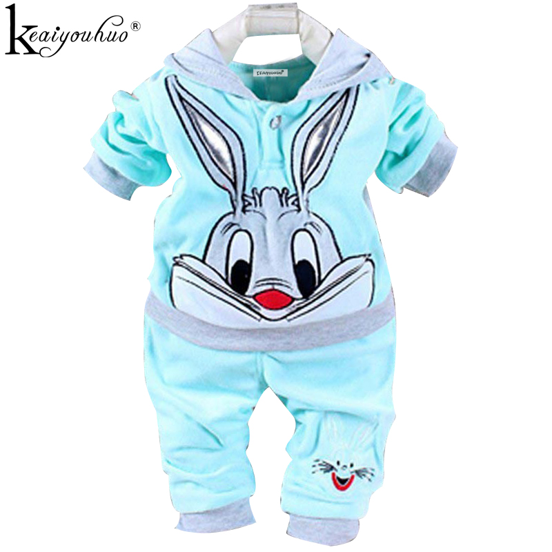 KEAIYOUHUO Spring 2018 Baby Girl Clothes Cartoon Infant T-shirt+Pants Cotton Two-Piece Long Sleeve Outfit Suit Baby Boy Clothing free shipping baby clothing set boy spring fall set boy leisure suit long sleeve t shirt pants 100