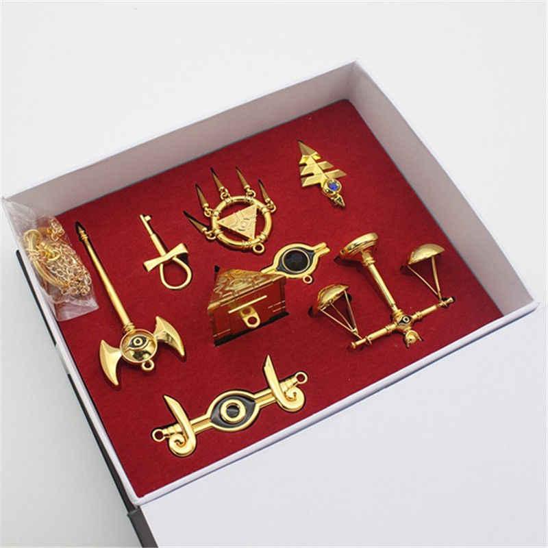 Yu-gi-oh! Millennium quebra-cabeça com pingente de colar, emblema, 8 peças conjunto + caixa