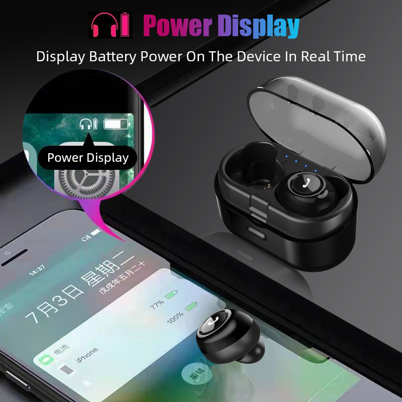Capsule TWS Wireless Earbuds V5.0 Bluetooth Earphone With Deep Bass 15