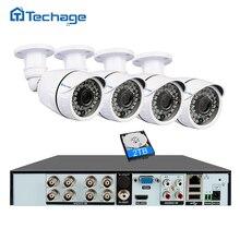 Techage 8CH 1080P HDMI DVR Kit CCTV Camera System 4PCS 2MP Outdoor Camera IR Night Vision Video Security Surveillance System Set