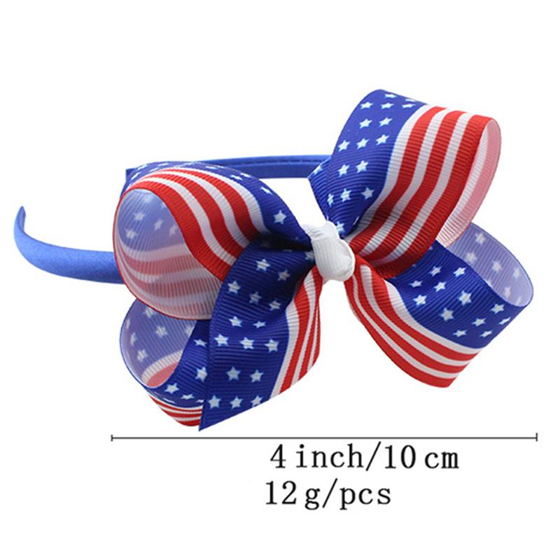 Ishowtienda 1pc Braider Happy Independence Day Bow Headband Tiara Party Decorations American Flag Snow Head Hoop Hair Bands For Sale Beauty & Health