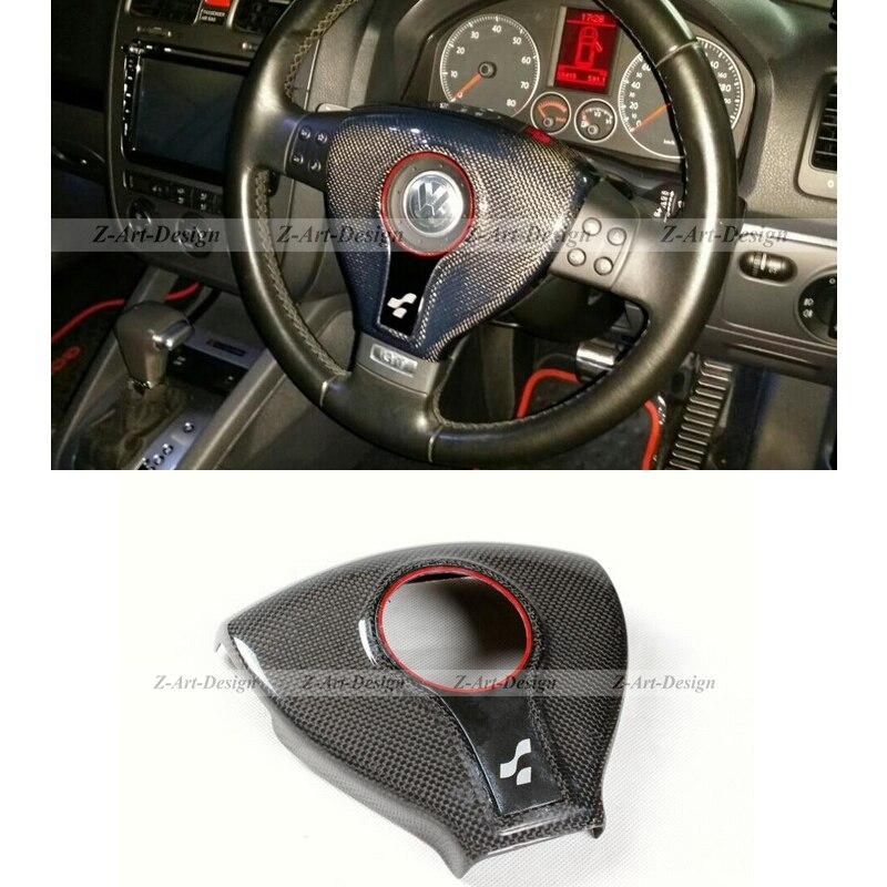 Brand New Carbon Fiber Steering Wheel Cover for VW Volkswagen Golf 5 by DHL/EMS
