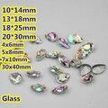 Crystal AB Teardrop Pear Crystal Fancy Stone Point Volver Cristal de Piedra Para La Joyería de DIY Accessory.10 * 14mm 13*18mm 18*25mm 20*30mm