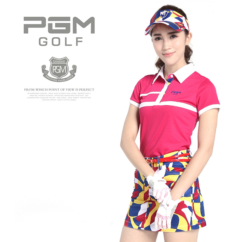 PGM Brand Polo Golf Skirt Women Short Printing Dresses Golf Clothes Ladies Leisure Elastic Sport Anti-Wrinkle Skirts Size XS-XL