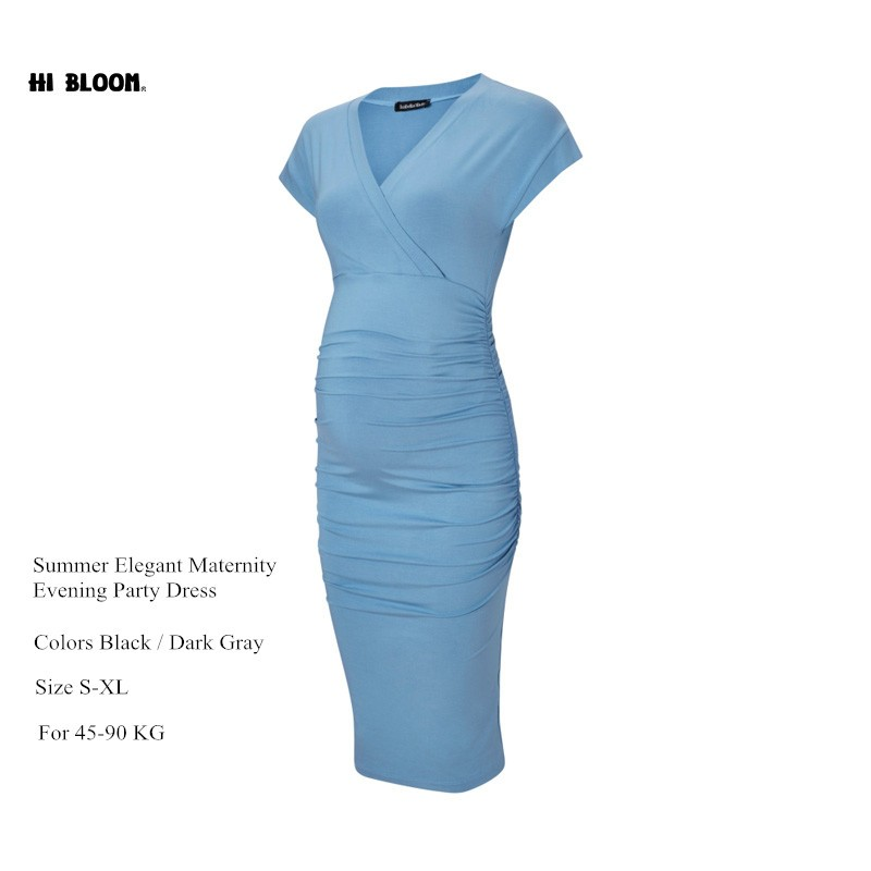 7c039c63792 Maternity Clothing Pregnancy Summer Dress for Pregnant Women Elastic Knee  Length Gowns Vestidos Ropa Premama Clothes-in Dresses from Mother   Kids on  ...