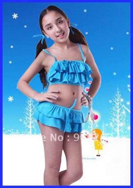 9fe879f6097e8 5-12 Years Old Girls Swimwar Swimsuit Children Swimwear Kids Beachwear  Bathing Suit W Ruffles Free drop Shipping