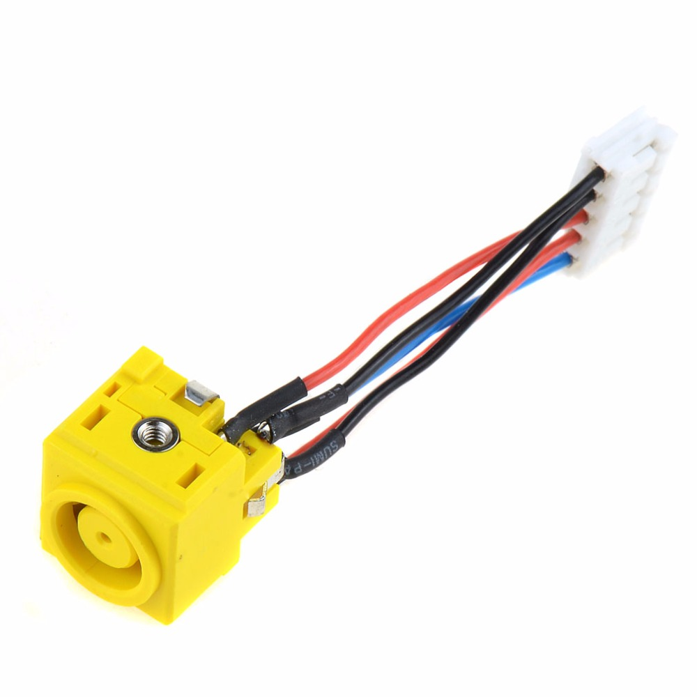 Notebook Computer Replacement DC Power Jack Connector Cable Socket For IBM Lenovo Thinkpad T400 R400 14.1 Laptops VCL85 best price power converter cable adapter for lenovo thinkpad x1carbon