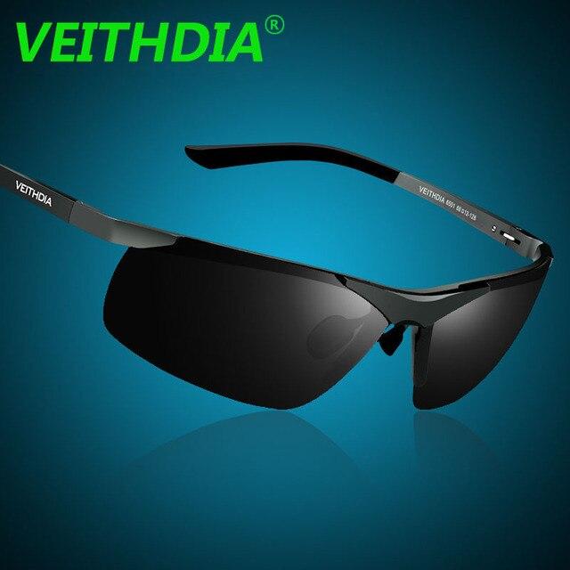 VEITHDIA Aluminum Magnesium 2018 New Men Brand Designer Driving Polarized Sunglasses Glasses Color Film Sun Goggles Eyeglasses
