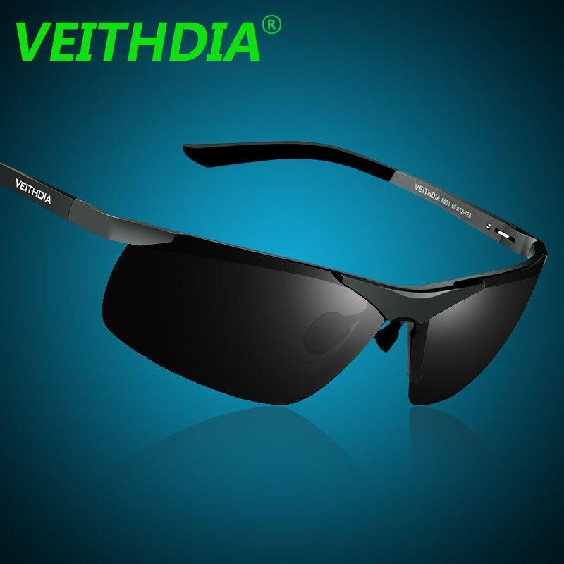 Lunettes Unisexe en alliage d'aluminium-magnésium cadres gradient couleur polarisée lunettes de soleil anti-UV hommes ( couleur : Bleu ) XWXVDoqO
