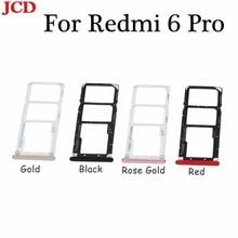 JCD SIM 1& SIM 2/TF карты лоток Адаптеры SIM карты лоток держатель Micro SD карты адаптер держателя слота для Xiaomi для Redmi 6 pro
