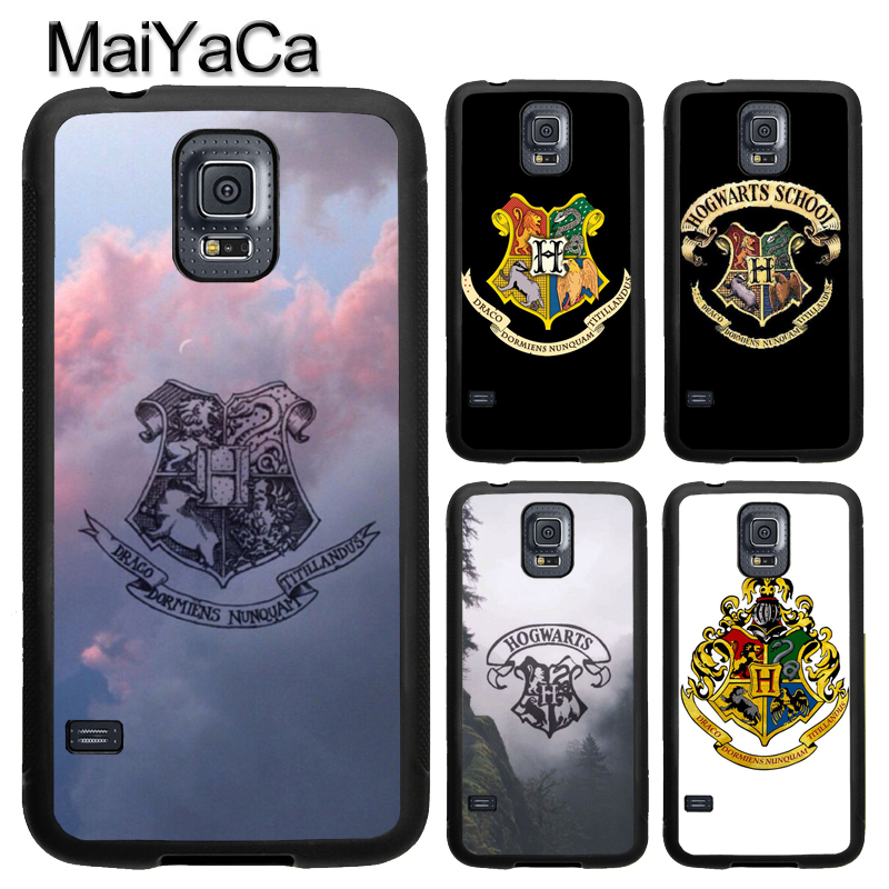 MaiYaCa HOGWARTS HARRY POTTER Phone Case For Samsung S4 S5 S6 S7 edge S8 S9 Plus Note 8 Note 5 Soft Rubber Back Capa Para