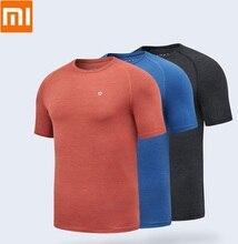 Xiaomi serin çabuk kuruyan T shirt rahat kısa kollu nefes yüksek elastik pürüzsüz kazak spor