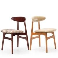 Новые 100% деревянный стул обеденный Столовая мебель из искусственной кожи стул хлопок стул гостиной мебелью офисная мода стул