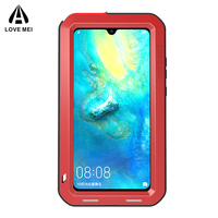 Lovemei Full Coverage Shockproof Doom Armor Case For Huawei Mate 20 Cover Case silicone Heavy Duty Protection Metal Bumper