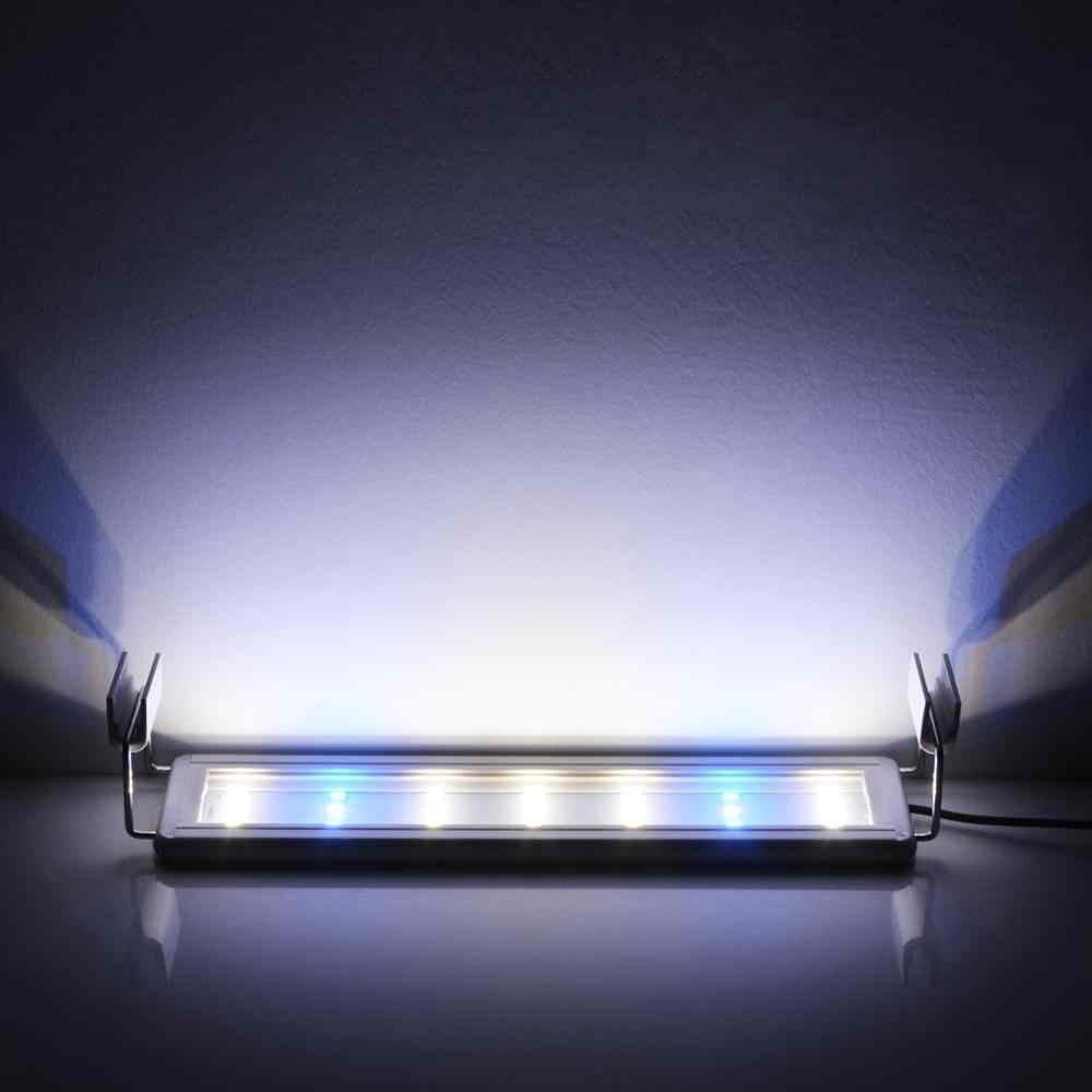 Аквариумный светильник светодиодный светильник для аквариума светодиодный светильник для аквариумов расширяемая лампа для водных растений 220 В мощность ЕС 18-70 см