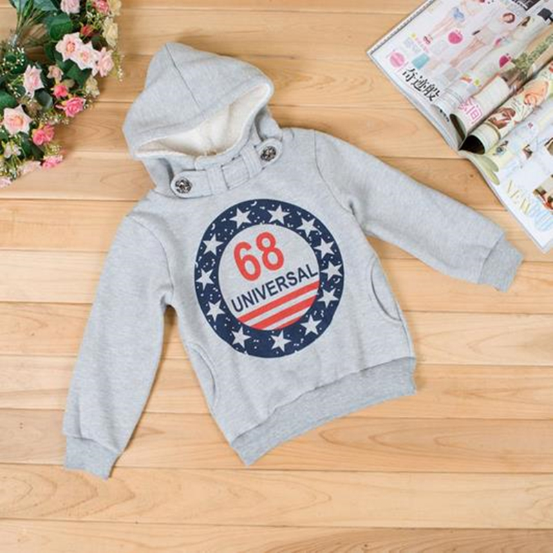 Baby Boys Autumn Pullover Jacket Coat for Children Thick Cotton Tops Hoodies Outwear 2018 Kids Girls Casual Sweater Clothing New