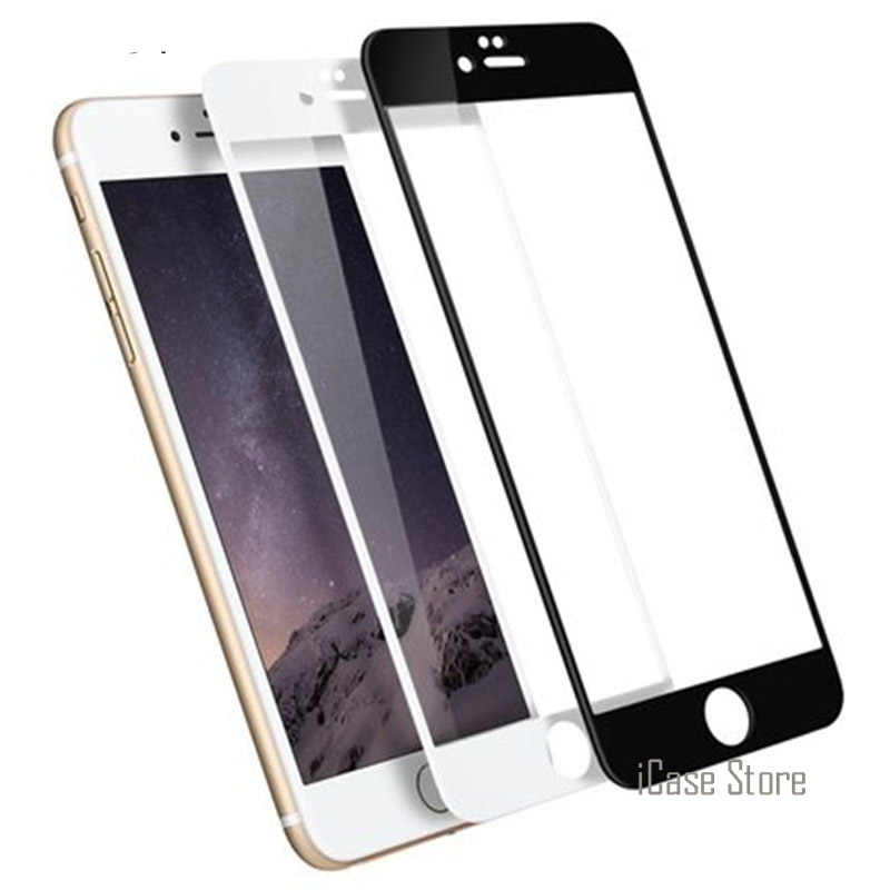 واقي شاشة كامل من الزجاج المقسى 9H لهاتف آيفون 7 واقي للشاشة الزجاجية لهاتف آيفون 7 بلس 4.7 5.5 بوصة