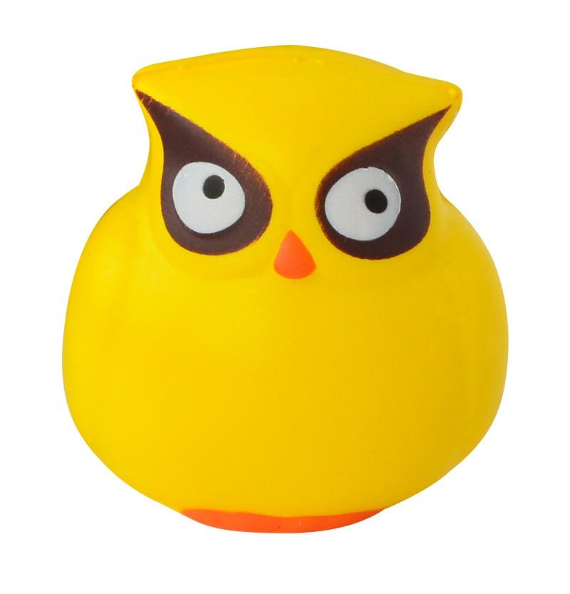 NNL087 Anti-Stress Toy Animal Series Owl Squishy Slow Rebound Owl PU Soft Cat Head Novelty Tricks Gift Squishi Novelty & Gag Toy