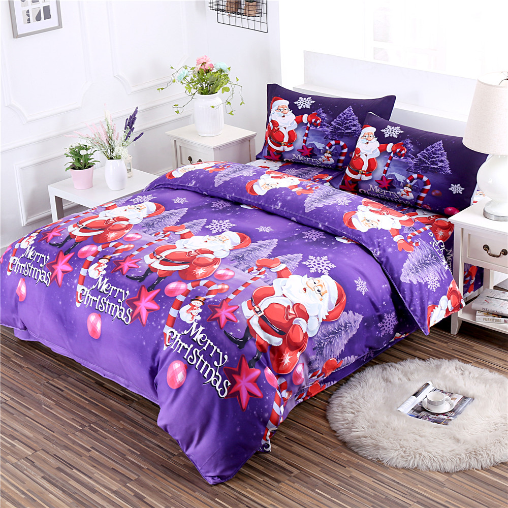 Home Textile Latest Collection Of Christmas Festival Green Santa Claus Fitted Sheet Cartoon Bedclothes Twin King Queen Bed Sheet Mattress Cover Home Decor D45