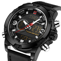 Часы для мужчин военные часы мужские кварцевые аналоговый светодиодный цифровой наручные спортивные часы relogio masculino новый люксовый бренд NAVIFORCE 2017