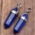 Natural Lapis Lazuli Gem stone Hexagonal Healing Chakra Bead Pendant For Necklace