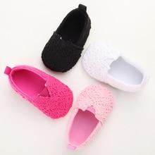 Fashion Kintting Baby Girls Princess Shoes Soft Bottom Toddler Anti Slip Casual Shoes Infant Baby Loafer Prewalker Shoe Footwear