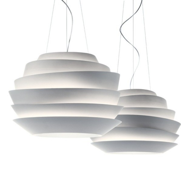 Ogromny Foscarini Le Soleil Wave White Rose Suspension lamp Pendant Lamp YK79