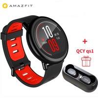 [Глобальный Версия] Xiaomi Huami AMAZFIT темп Смарт часы 4 ГБ gps монитор сердечного ритма BT4.0 Сенсорный экран спортивные часы Для мужчин