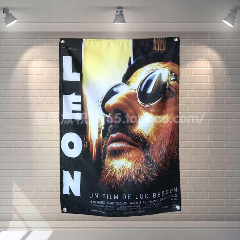 """""""Leon-profesjonalną"""" Movie Poster banery Bar Cafe Hotel dekoracje ścienne wiszące Art wodoodporna tkanina poliestrowa tkanina flagi"""