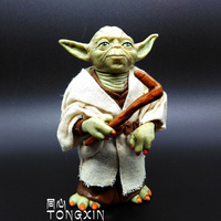 Star Wars Action Figure Doll Model Ornaments Yoda Toy Jedi Black Warrior
