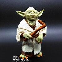 Star Wars Action Figure Doll Model Ornaments Yoda Toy Jedi Black Warrior