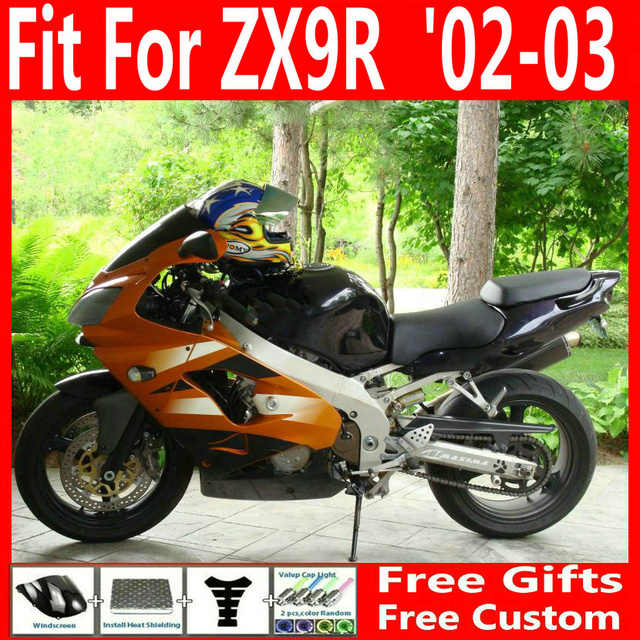 Aftermarket Body Parts Fairing Kit For Kawasaki Ninja Zx9r 02 03