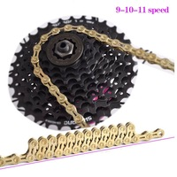MTB Road Bicycle Bike Chain 9S 10S 11S Hollow Ultra Light 9 10 11 Speed 116L Chain Bike Compatible For Shimano SRAM