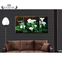1Set 3PCs Colorful Tulip Flower Canvas Painting Home Decor Wall Pictures For Living Room Frameless Painting