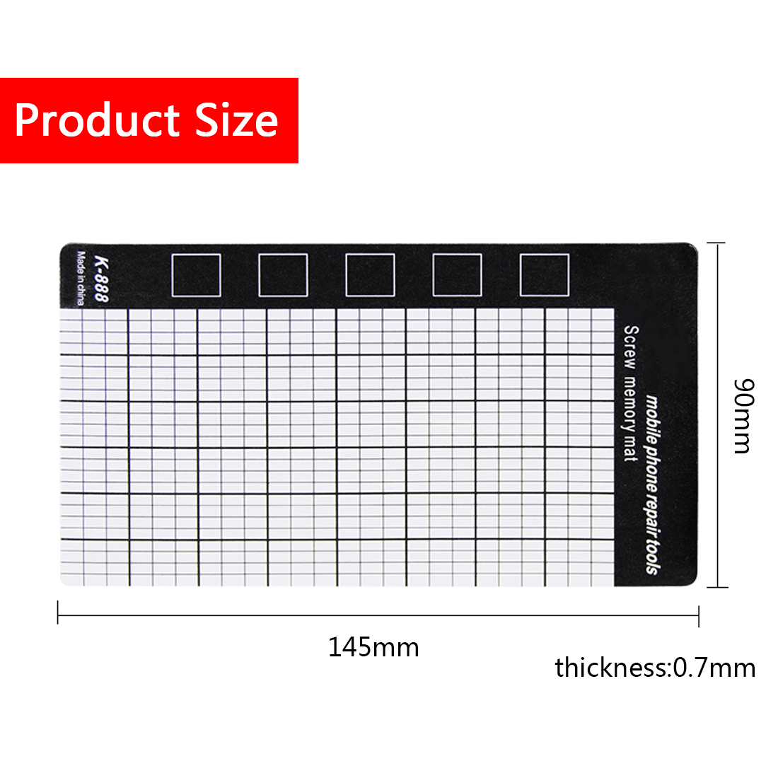 Hand Tool Set Magnetic Working Pad Magnetic Screw Mat Memory Chart Work Pad Mobile Phone Repair Tools 145 X 90mm