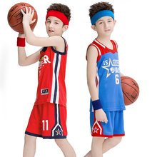 9576817f912 Suitable for 125-175cm Children s Basketball Set Kids Summer Private Pupils Custom  Basketball Clothing Training Suit Sportswear