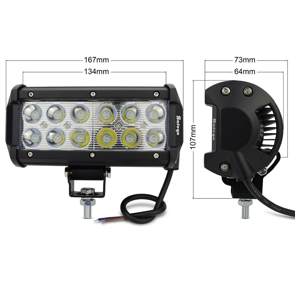 1x Safego 6inch offroad 36w led light bar 4x4 trucks off road led - Car Lights - Photo 2
