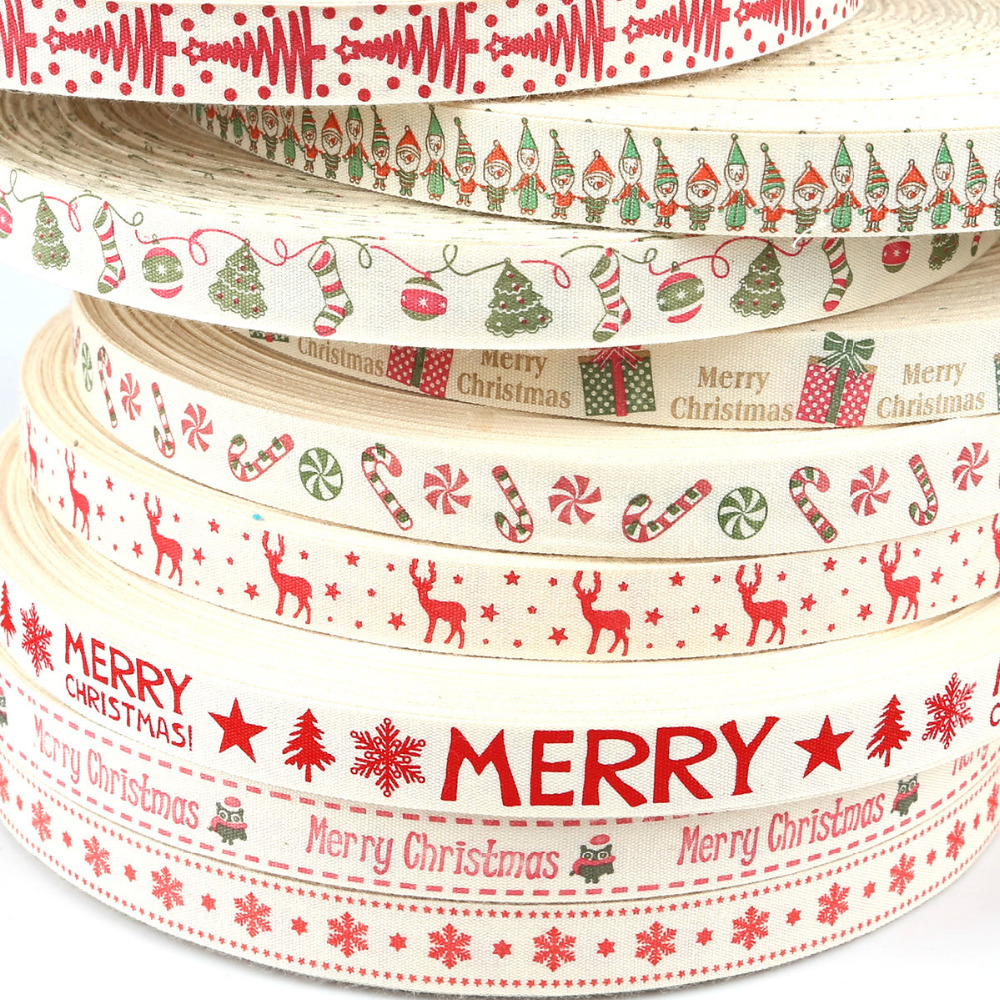 Sewing Room Gift Wrapping Room: High Quality 5yards Printed Organza Cotton Ribbons 15mm