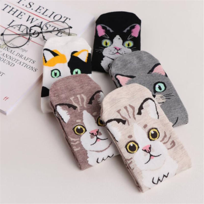 Socks Japanese Harajuku Style Cartoon Animal Print Cute Funny Cotton Long Socks For Women Street Sports And Leisure Socks For Female