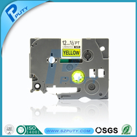 Laminated black on yellow tze label tape tze 631 tze 631compatible for p touch label printer
